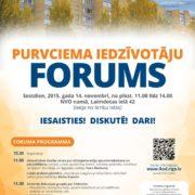 14.novembrī aicinām uz Purvciema iedzīvotāju forumu