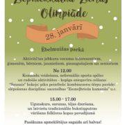 28. janvārī Ēbelmuižas parkā Ziepniekkalna ziemas olimpiāde