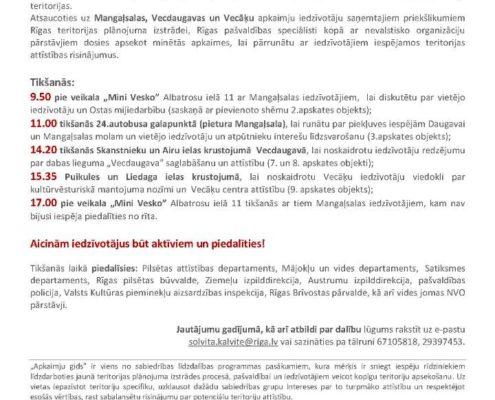 """5.jūnijā """"Apkaimju gids"""" Mangaļsalas, Vecdaugavas un Vecāķu apkaimēs"""