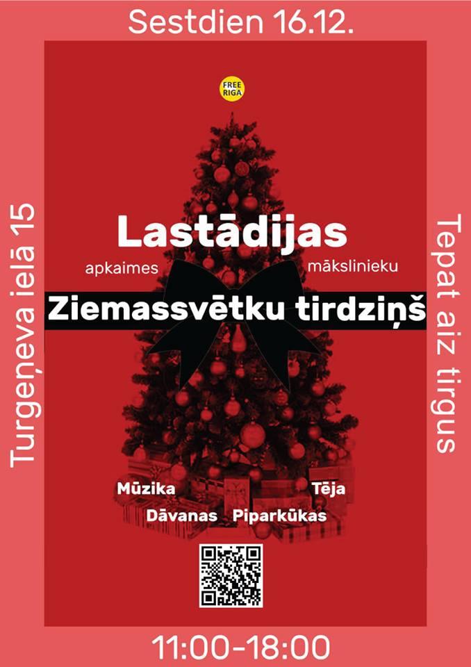 16. decembrī notiks pirmais Lastādijas mākslinieku Ziemassvētku tirdziņš