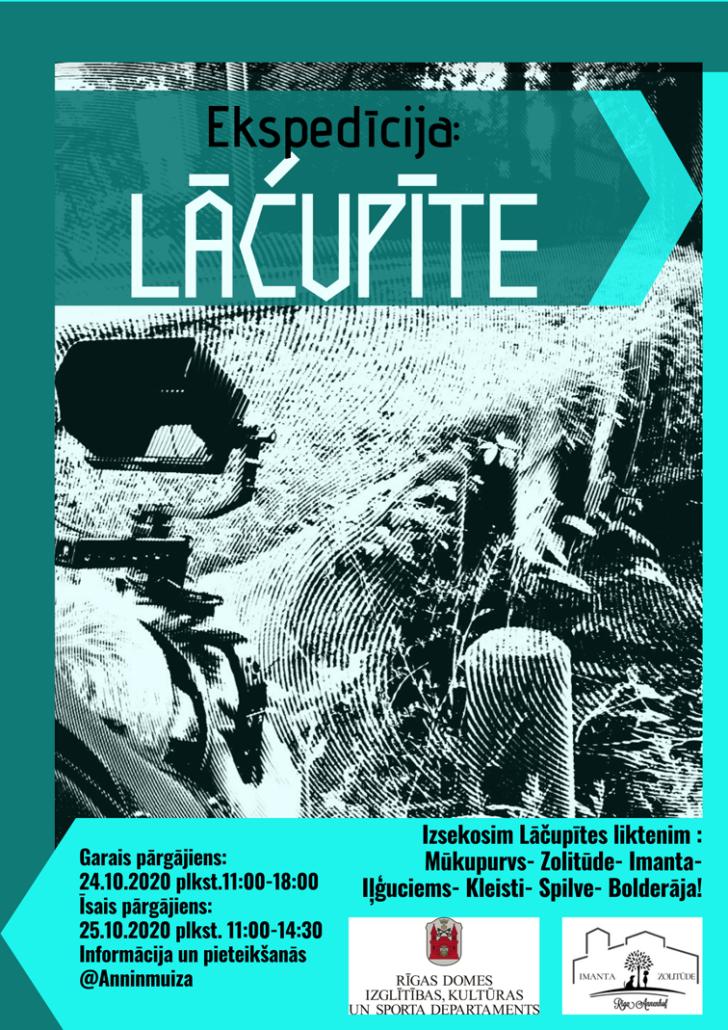 Plakats Ekspedicija Lacupite pargajieni