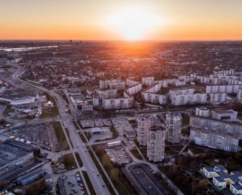 Rīga saulrietā