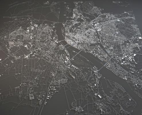 Melnbalta Rīgas karte