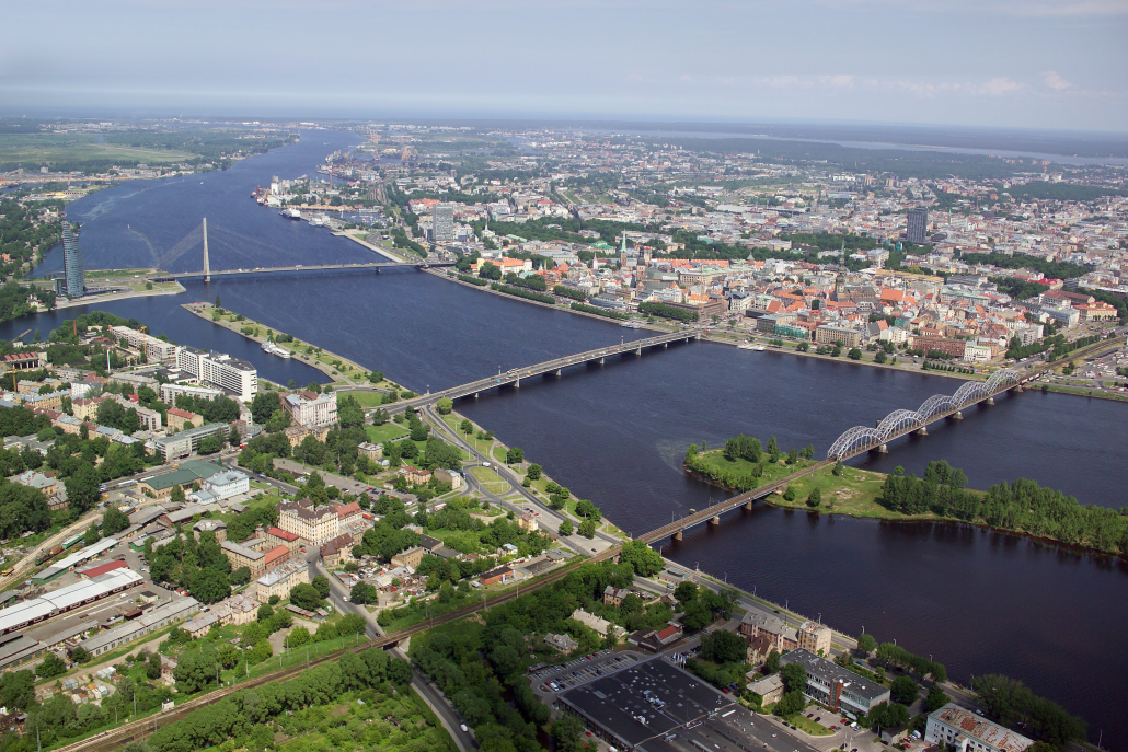 Rīga, Daugava skats no augšas