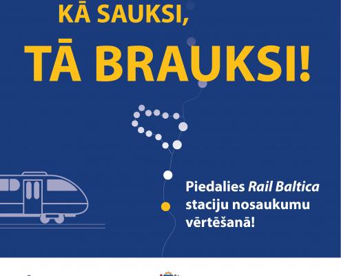 Infografika -Aicina balsot par topošo Rail Baltica staciju nosaukumiem